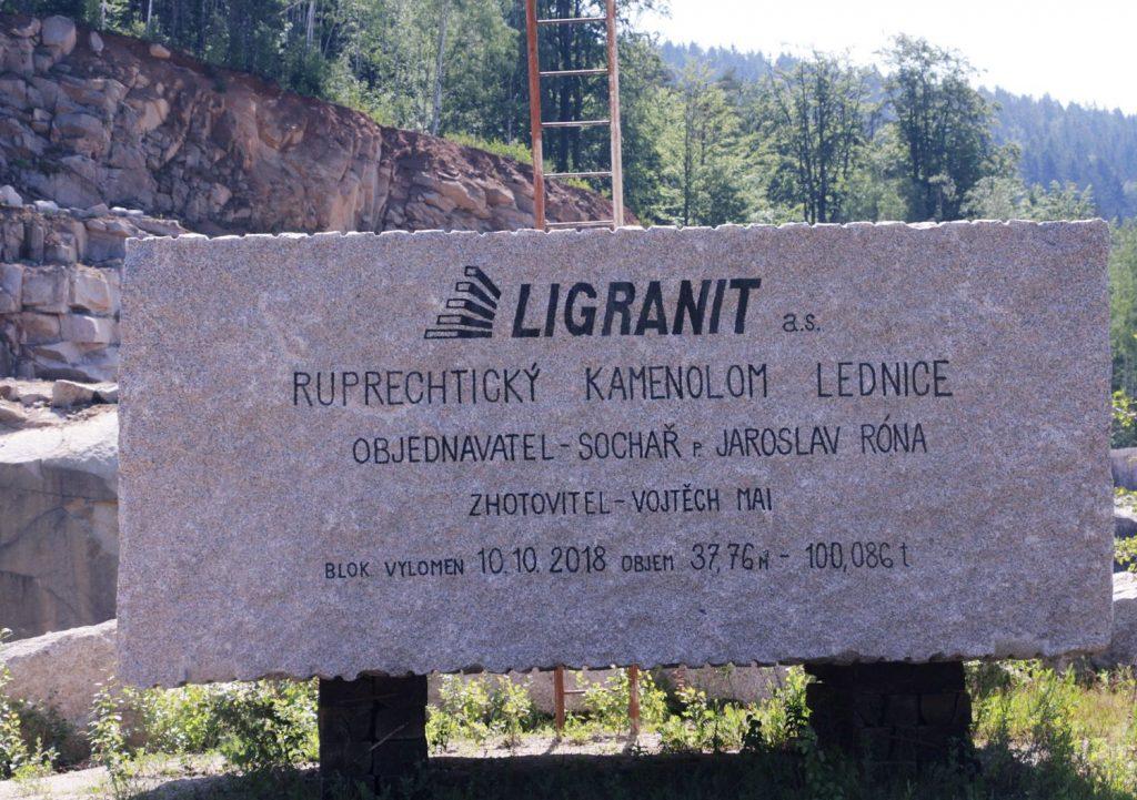 Liberecká geostezka – 100t blok