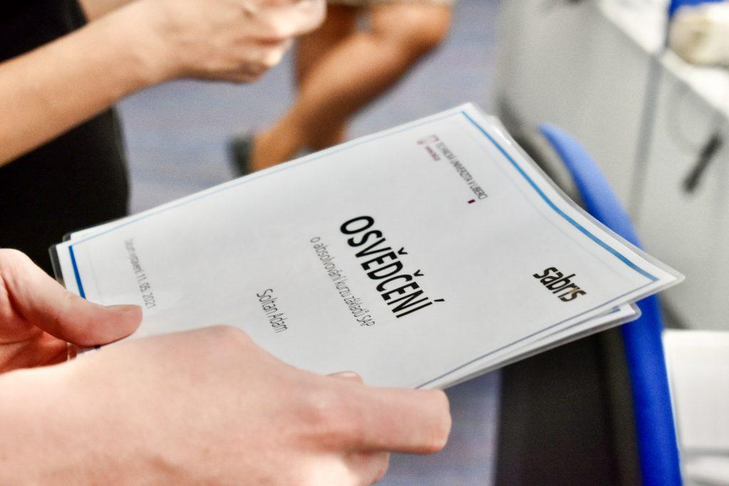 Zakončení kurzů SAP (EF)