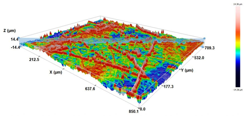 Struktura povrchu nanovlákenného nosiče